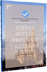Disney World Vacation Checklist Graphic